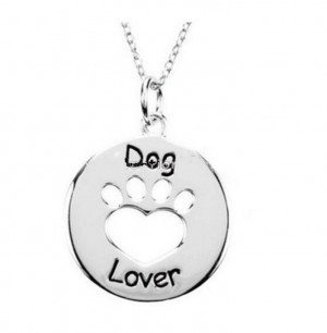 dog lover necklace silver