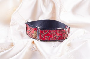 Martingale hondenhalsband Hot red