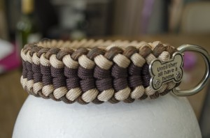 Halsband paracord Brownie Mocca