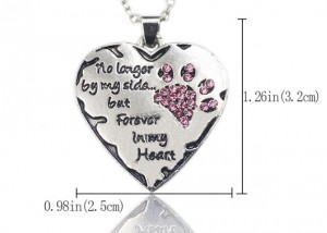 Ketting forever in my heart hond